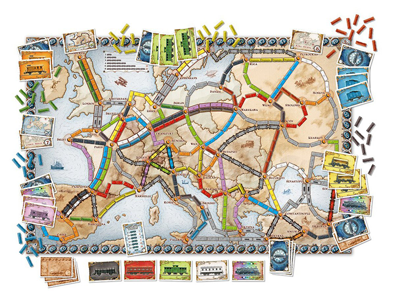 Ticket to Ride Europe Board Game Contents
