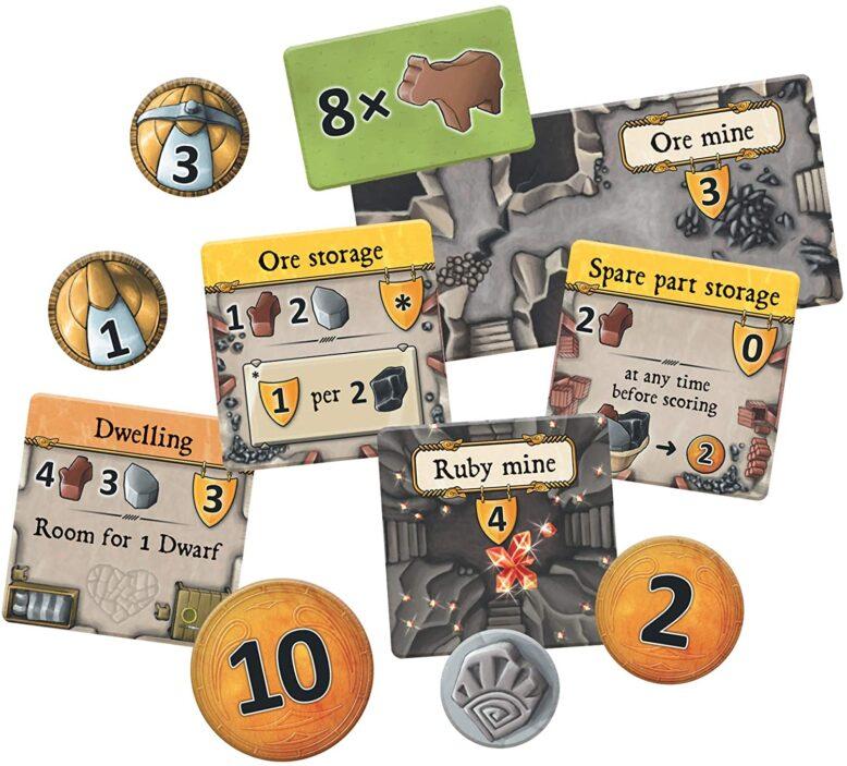 Caverna Board Game Components