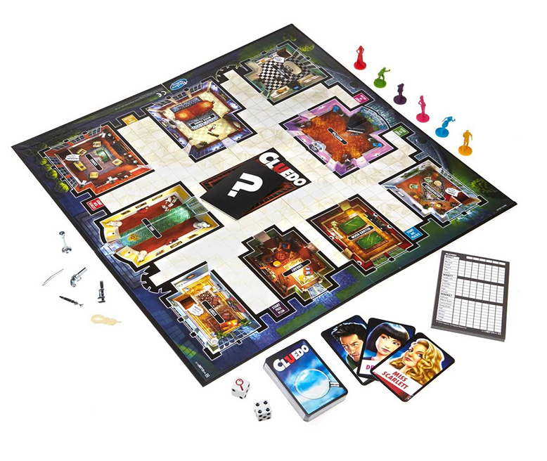 Cluedo Board Game Components