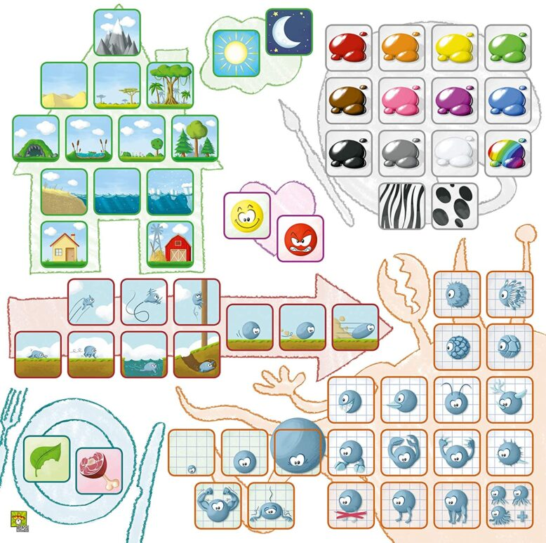 Concept Kids Animals Childrens Board Game Components