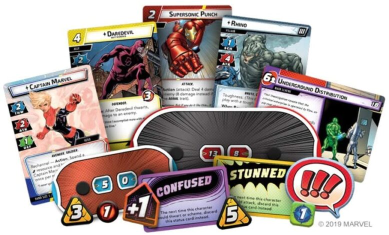 Marvel Champions Card Game Components