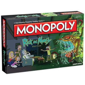 Monopoly Risk and Morty Board Game