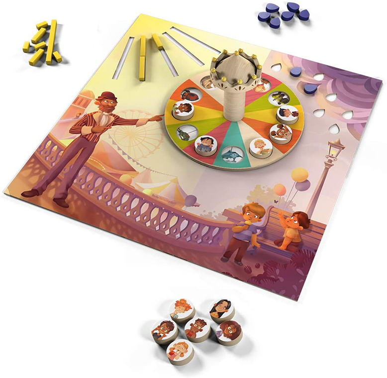 Monsieur Carrousel Board Game Components