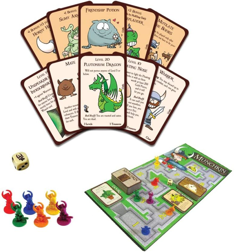 Munchkin Deluxe Board Game Contents