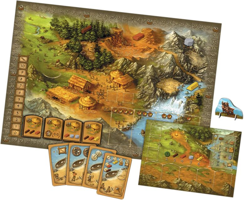 Stone Age Board Game Board and Cards