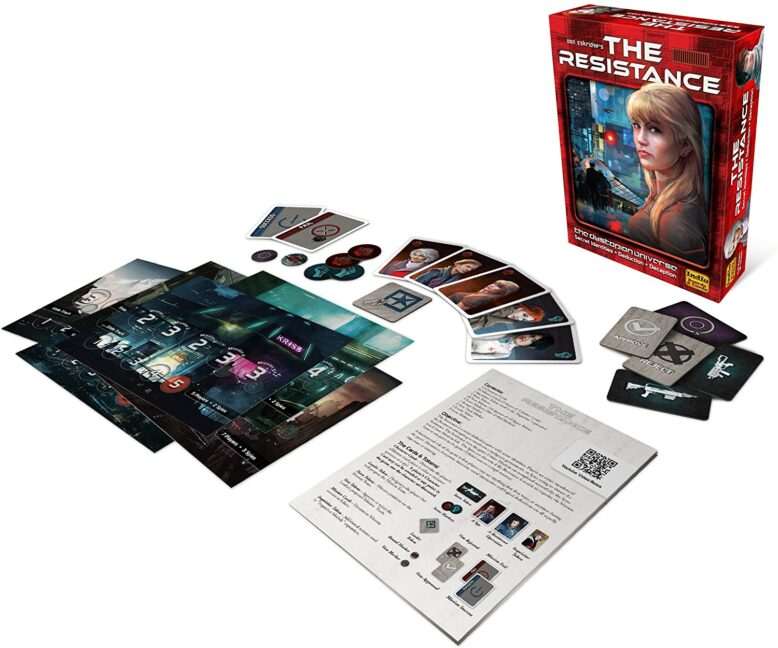 The Resistance Party Game Components
