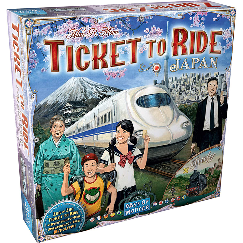 Ticket to Ride Japan Italy Expansion Maps