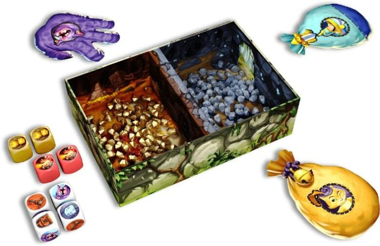Troll and Dragon Board Game Components