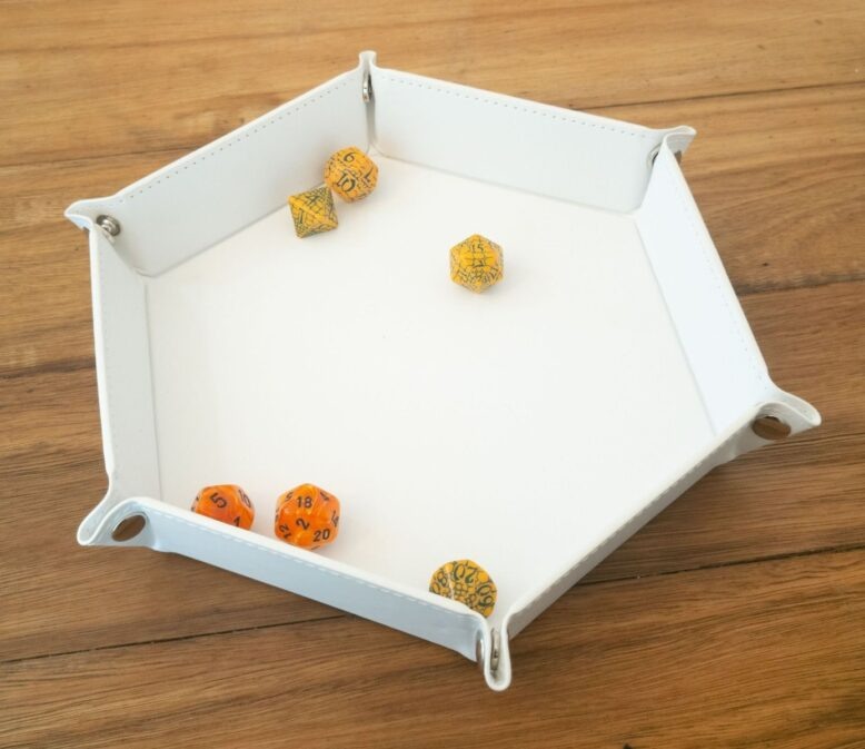 8 Inch Dice Tray White