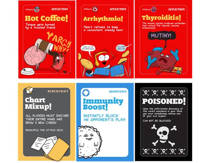 OrganAttack Board Game Contents
