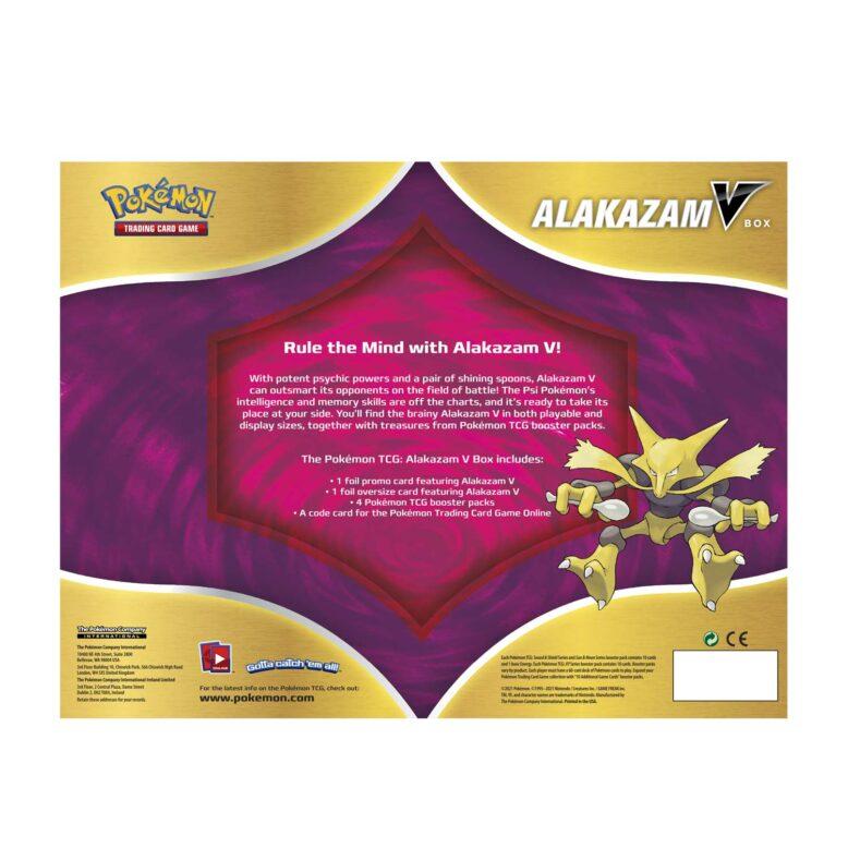 Pokemon TCG Alakazam V Box Back