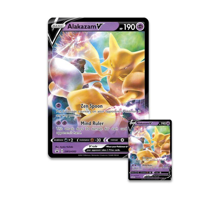 Pokemon TCG Alakazam V Promo Card