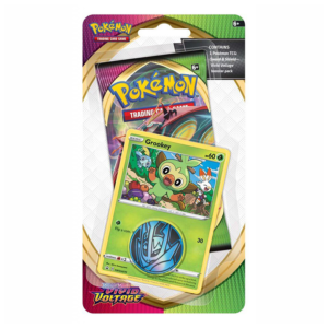 Pokémon TCG: Sword and Shield- Vivid Voltage Booster Pack, Coin & Grookey Promo Card