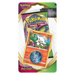 Pokémon TCG: Sword and Shield- Vivid Voltage Booster Pack, Coin & Scorbunny Promo Card
