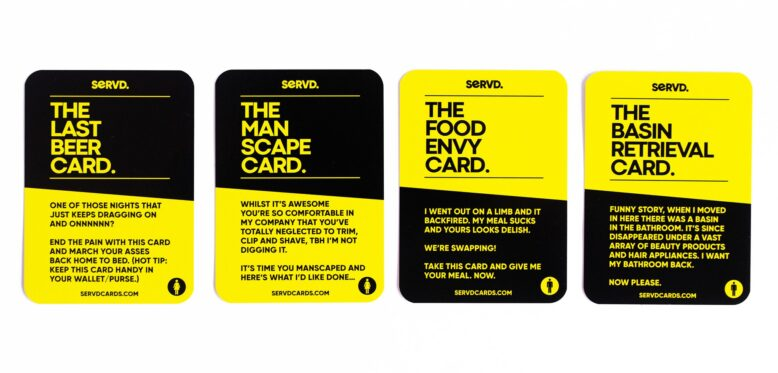 SERVD His & hers Cards