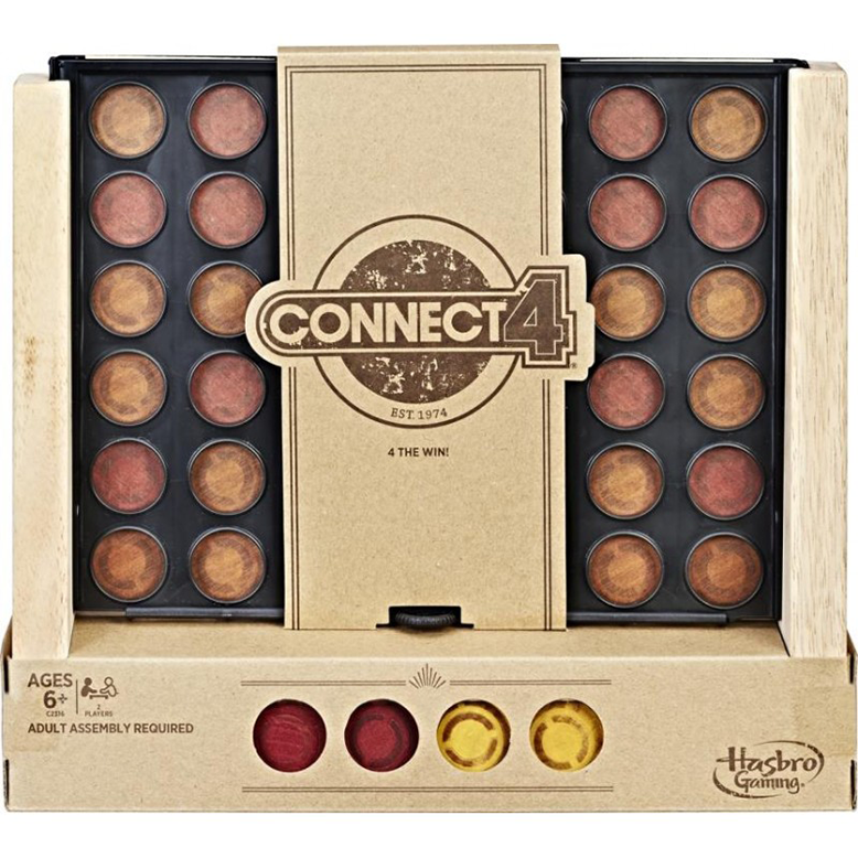 connect 4 rustic childrens board game