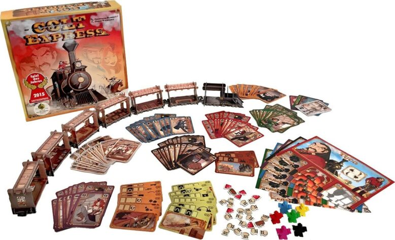 Colt Express Board Game Contents