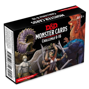 Dungeons & Dragons Monster Cards Challenge 6-16