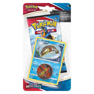 Pokémon TCG: Sword and Shield- Battle Styles Booster Pack, Coin & Arrokuda Promo Card