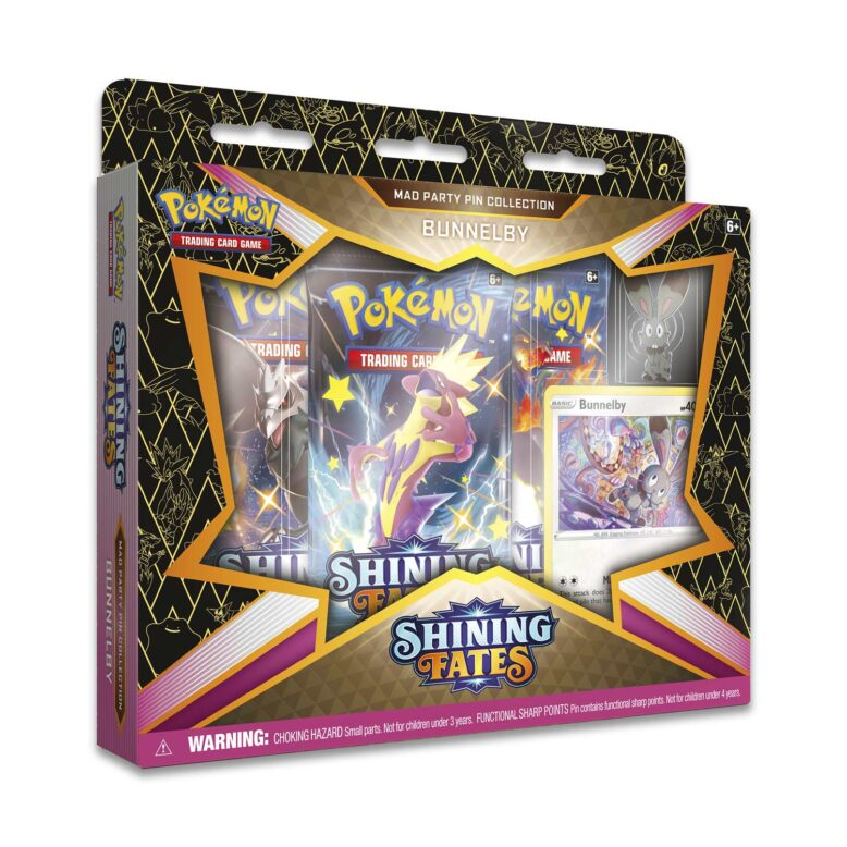 Pokémon TCG Shining Fates Mad Party Pin Collection Bunnelby