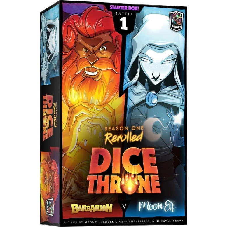 Dice Throne Season One ReRolled Barbarian v. Moon Elf