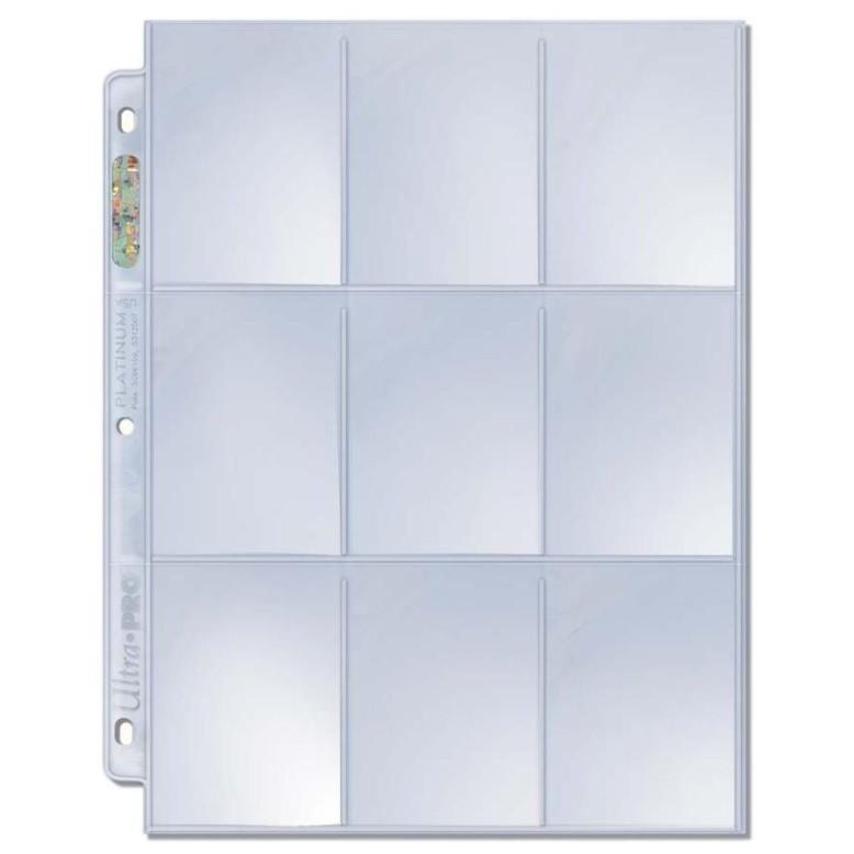 Ultra PRO Platinum Series 9 Pocket Page for Standard Cards