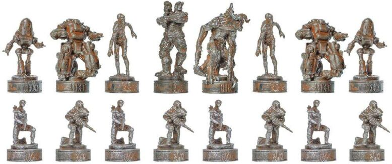 Fallout Black Chess Pieces